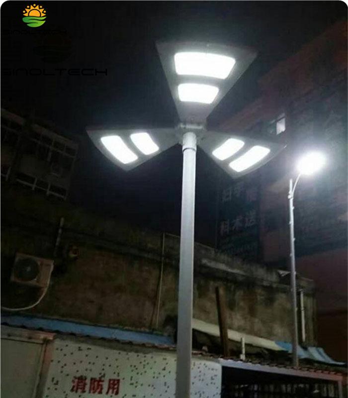Fan shape solar light03
