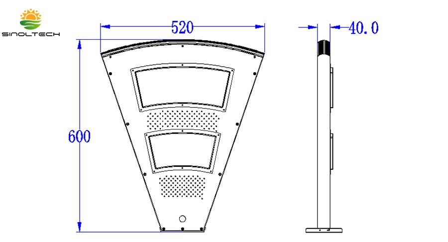 Fan-shape-Dimension-1