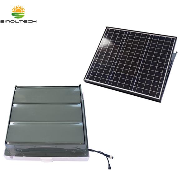 Indoor Solar Lauvered Attic Fan Featured Image
