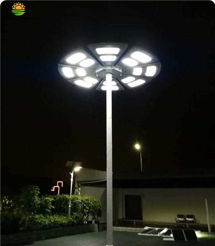 Fan shape solar light01