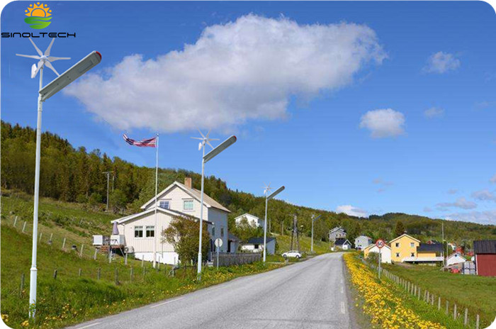 Hybrid solar and wind street light (5)
