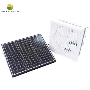Indoor Solar Lauvered Attic Fan