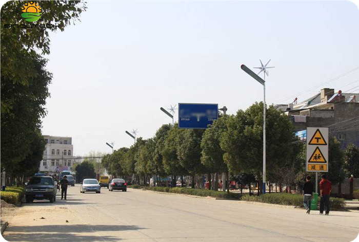 Hybrid solar and wind street light (9)