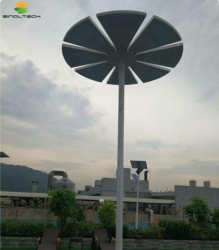 Fan shape solar light02